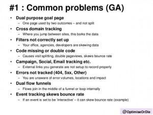 Fehler Google Analytics Implementierung